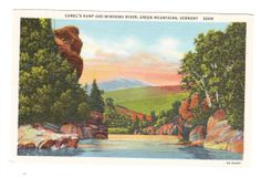 Vintage Vermont Postcard Green Mountains by PicturesFromThePast, $3.75