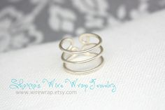 Triple Band Toe Ring  Plus FREE Surprise Toe Ring by wirewrap, $22.00