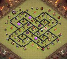 gambar base th 8 clan war