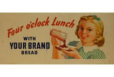 1930s-'60s Bread Sign **vintage**