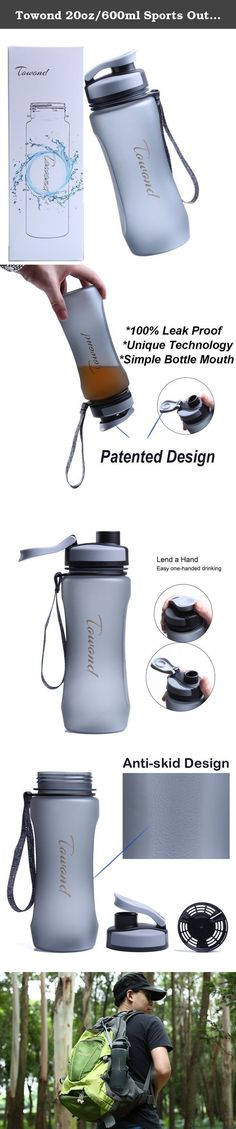 Towond 20oz/600ml Sports Outdoors Tritan Water Bottle BPA-Free w/Flip Top Filter - 100% Leak Proof (Gray, 20 Ounces). Our Lids Are Sealed - Towond technology is leak and spill proof. (Yes there is a difference!) Lend a Hand - Easy one-handed drinking with no lids to remove or lose Focus on Safety and Environmental Protection - All Towond products are BPA free, have a limited lifetime guarantee and are designed by passionate inventors and innovators who have your mobility in mind. Max....
