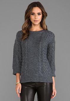 Trina Turk Haya Sweater in Charcoal