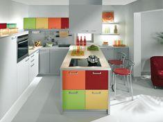 Cocinas coloridas | Decoracion de Interiores