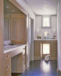 for Bathroom : like the taller make-up vanity (on flat wall?)