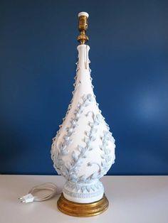 Gran lámpara vintage de cerámica de Manises por elNidoSingular