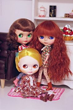 My three Blythes by houseofduke, via Flickr