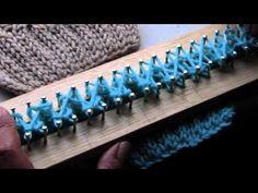 Bufanda con trenza en telar - COMO EMPEZAR (2de2)) - YouTube