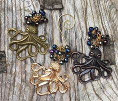 OCTOPUS Christmas Ornaments  Steampunk Christmas Ornament