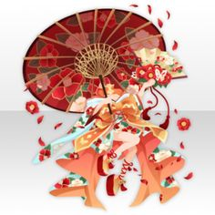 Sexy Camellia Pattern Onmyoji Dress ver.A red
