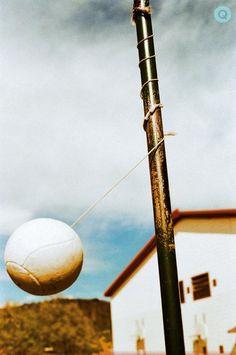 Teather ball.