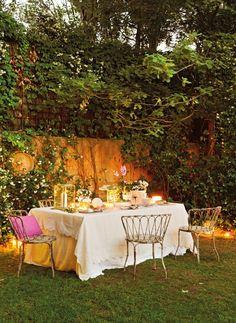 Nothing beats dinner in the garden on a balmy summer evening.