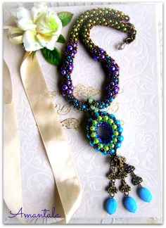 Amantala ... beaded medallion necklace by dwear.rooms