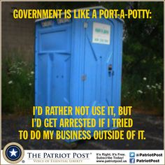 Humor: Government Is Like a Port-A-Potty
