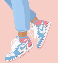 Cute Canvas Paintings, Small Canvas Art, Diy Canvas Art, Cool Art Drawings, Easy Drawings, Sneaker Art, Minimalist Painting, Nike Wallpaper, Iphone Wallpaper Tumblr Aesthetic