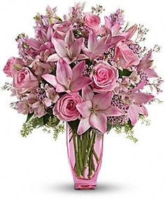 What girl doesn't love pretty pink flowers??   I sure do!!!