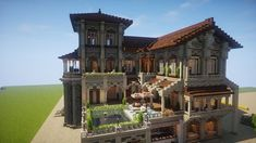 Fancy Spanish Manor - Minecraft World Memes Minecraft, Video Minecraft, Minecraft Plans, Minecraft Tutorial, Minecraft Blueprints, Minecraft Designs, Minecraft Creations, Minecraft Mods, Minecraft Crafts