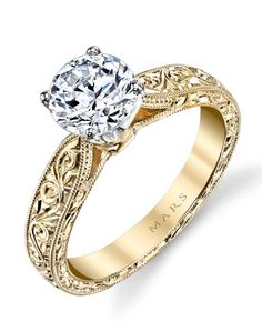4892c1c50b23 MARS Jewelry 13256HE Solitaire Engagement Ring. Anillo De Compromiso Oro ...