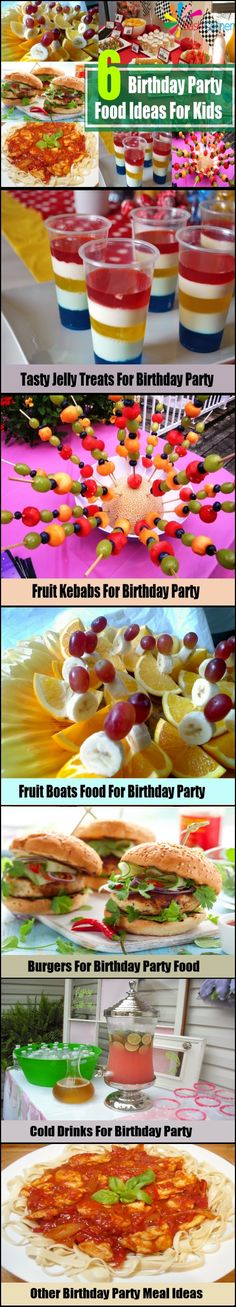 6 Birthday Party Food Ideas For Kids