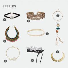 Choker: el complemento de moda