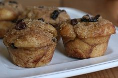 Cinnamon Raisin Pull Apart Muffins - these remind me of the Cobblestone Muffins I have made before, but these are made from scratch!