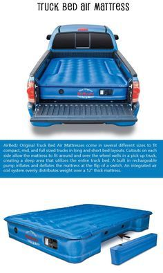 Coleman® GuestRest Double High Airbed Queen - Gray Top Ten Car Accessories Of The Week! - Air Bed - Ideas of Air Bed - Top Ten Car Accessories Of The Week! Truck Mods, Lifted Trucks, Cool Trucks, Chevy Trucks, Pickup Trucks, Lifted Ford, Jeep Cars, Truck Parts, Truck Bed Camping