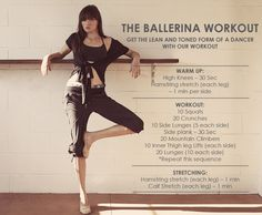 ballerina workout gotta get some boom legs.