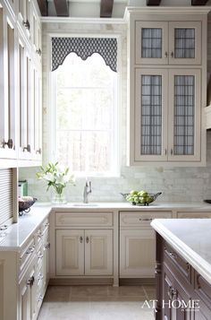 fabric behind glass leaded cabinet doors