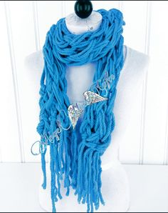 Check out this item in my Etsy shop https://www.etsy.com/listing/276770824/blue-fringe-scarf-womens-scarf-birthday