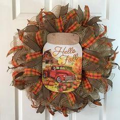 Fall Mesh Wreaths, Autumn Wreaths, Easter Wreaths, Wreaths For Front Door, Holiday Wreaths, Door Wreaths, Wreath Bows, Ribbon Wreaths, Fabric Wreath