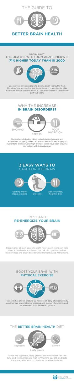 What can you do to support the health of your brain? Click for 3 simple lifestyle changes that make a big difference. #NuSkin