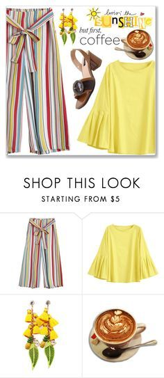 """""""Summer Work Wear :: Striped Pants"""" by jecakns ❤ liked on Polyvore"""