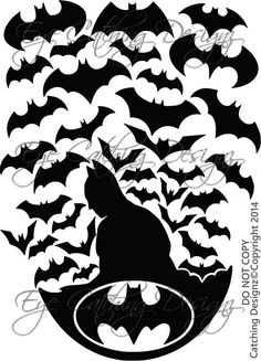 Batman Bats Superhero Robin Joker Batcave by EyeCatchingDesignz