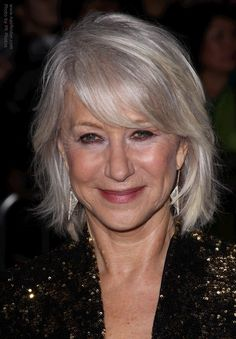 hairstyles for silver gray hair - Google Search