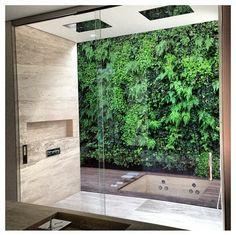 parede verde + marmore