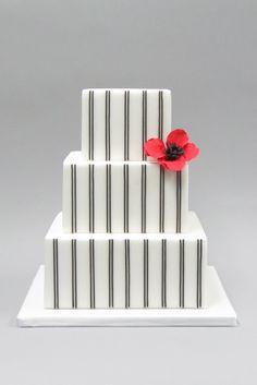 Pinstripes Wedding Cake