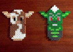 Items similar to Gremlins Inspired 8 Bit Perler Set - Magnets or Ornaments on Etsy Melty Bead Patterns, Hama Beads Patterns, Loom Patterns, Beading Patterns, Stitch Patterns, Fuse Beads, Pearler Beads, Pixel Art Templates, Pixel Pattern