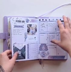 This is a flip Through of my Planning bullet journal from February 2019 You can find the supplies I used in my shop Lots of stickers planners notebooks washi tape stamps pens and Bullet Journal Flip Through, Bullet Journal 2020, Bullet Journal Aesthetic, Bullet Journal Notebook, Bullet Journal Ideas Pages, Bullet Journal Spread, Bullet Journal Inspo, Bullet Journal Washi Tape, Scrapbook Journal