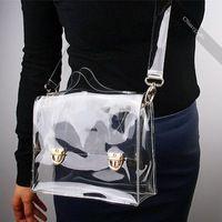 Nueva moda de PVC bolsa transparente del bolso de totalizador del bolso de hombro cruzado