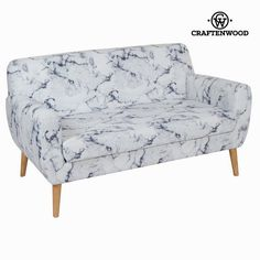 If you want to add a touch of originality to your home, you will do so with 2 seats marble sofa by Craften Wood. Structure: Rubber wood Material: Polyester Clea