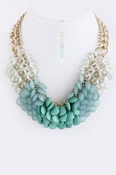 DivaByDzine - Waves Glam Necklace Set, $17.00 (http://www.divabydzine.com/waves-glam-necklace-set/)