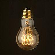 60w 2700k cru edison ampoule a19 moyen style filament antique ampoules à incandescence (AC220-240V)