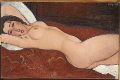 "Amedeo Modigliani, ""Reclining Nude"", 1917, oil on canvas, Metropolitan Museum of Art, New York, New York, USA"