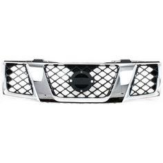 2005-2007 Nissan Pathfinder Grille, Assembly, Chrome Shell/ Black