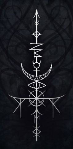 The Mystic Mire — The Sword of Mib A sigil to enhance cleverness and. The Mystic Mire — The Sword of Mib A sigil to enhance cleverness and… inteligencia Sigil Magic, Magic Symbols, Viking Symbols, Ancient Symbols, Cool Symbols, Occult Symbols, Viking Art, Nordic Symbols, Future Tattoos