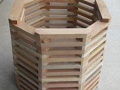 Resultado de imagem para cachepot sextavado  madeira