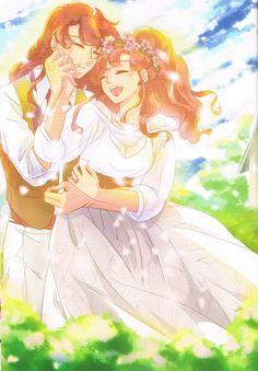 Western country Wedding (Nephrite & Makoto) Fanart by UTSUKI Photoart from ELOPE TO THE EARTH