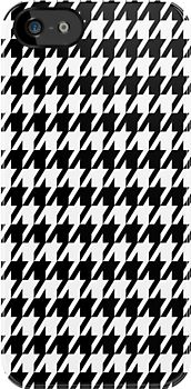 Houndstooth pattern.  You all know my love of this pattern!
