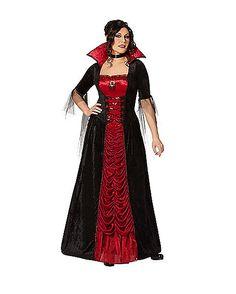 Victorian Vampiress Plus Size Adult Costume - Spirithalloween.com
