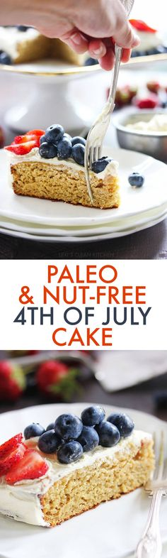 4th of July Paleo Cake Recipe
