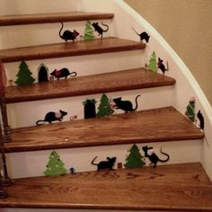 CHRISTMAS - Mice on the stairs. easy with cricut